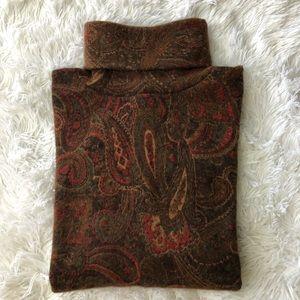 PENDLETON Lambswool Paisley Turtleneck Sweater